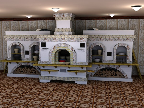Русские печи с лежаком.