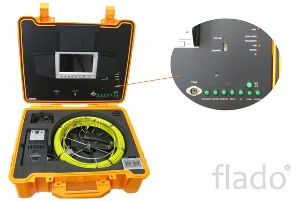 Система видеодиагностики с проталкиваемым кабелем до 40 метров (телеин