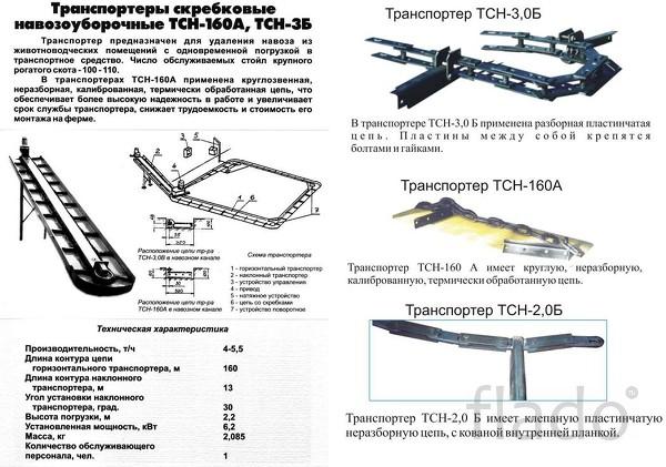 Транспортеры навозоудаления ТСН-160,ТСН-3Б,ТСН-2Б.