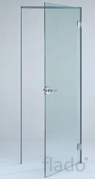 Цельно стеклянная дверь
