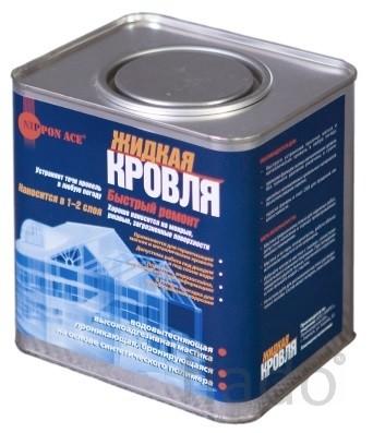 Кровля жидкая, жидкая резина для кровли, гидроизоляция кровли, 2,4 кг