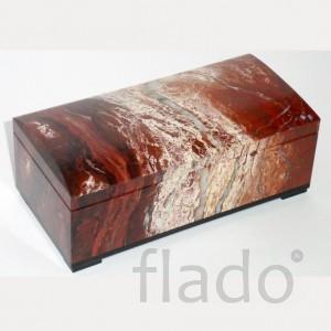Шкатулка 17 см. из ценной уральской яшмы украсит интерьер