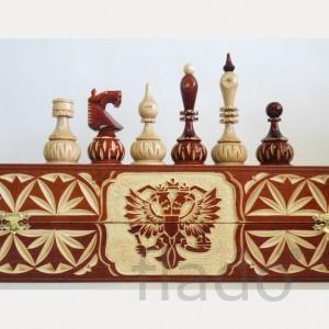 Шахматы деревянные Резные шарики 40 х 20 х 10 см.