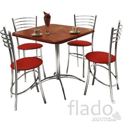 Столы, стулья на металлокаркасе