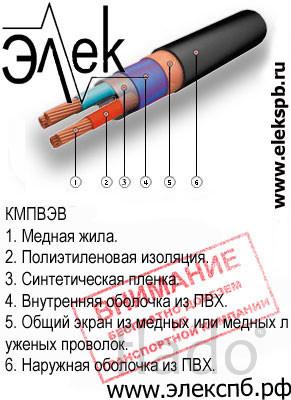 КМПВЭВ продажа судового кабеля