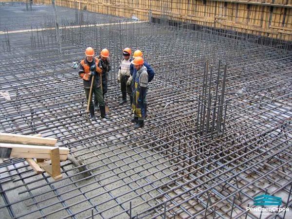 Бетонные работы бетонирование