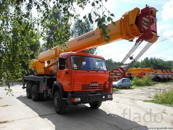 Услуги кран Ивановец кс-45717К, 25т, вылет 22м 31м