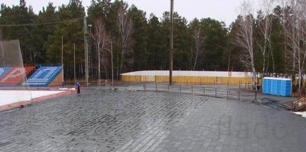 Сборное резиновое покрытие для залов, хоккейных раздевалок и катков