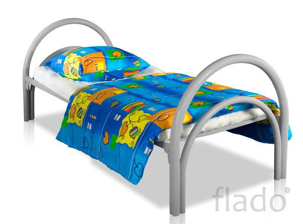 Кровати одноярусные металлические  для пансионата, кровати оптом.