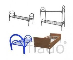 Железные армейские кровати, одноярусные металлические, кровати оптом.