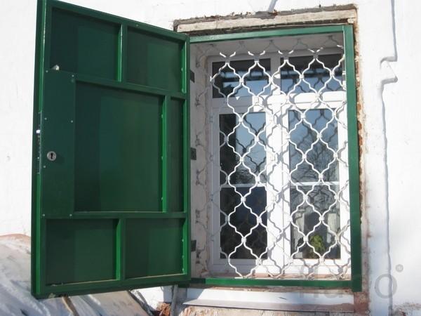 Ставни на окна из металла