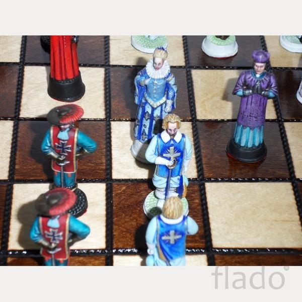 Шахматы металлические Мушкетёры короля и гвардейцы кардинала авторская