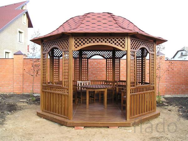 Изготовим и смонтируем деревянные беседки,перголы, шпалеры, заборные