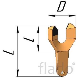 Буровые коронки (резцы) РУ-13 (РУ 15)