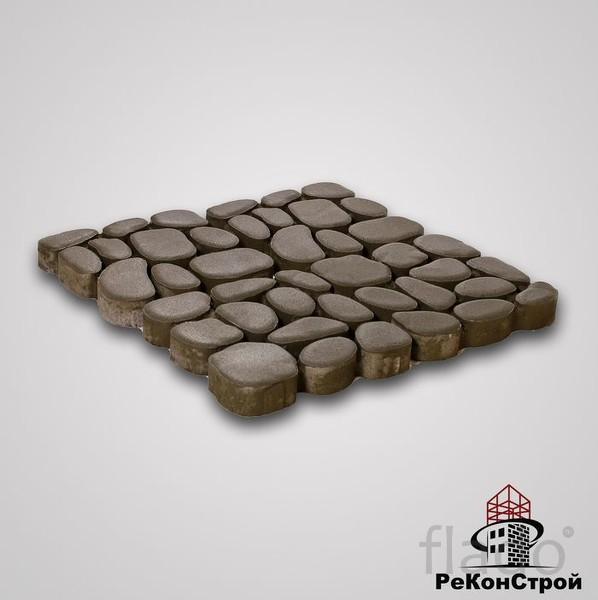 Тротуарная вибропрессованная плитка Грин Галет, Серый, BRAER