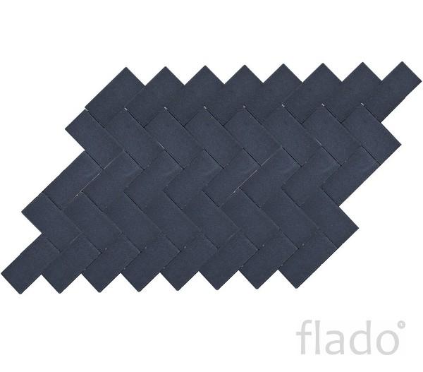 Тротуарная вибропрессованная плитка Прямоугольник, Белый, Черный BRAER