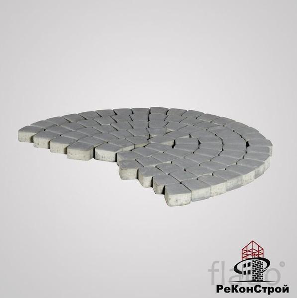 Тротуарная вибропрессованная плитка, брусчатка BRAER, Классико кругова