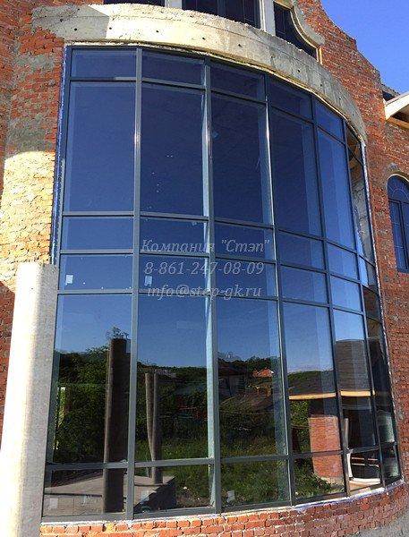 Алюминиевый фасад из профиля Алютех