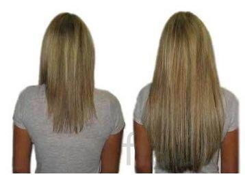 Наращивание волос лентами и трессами