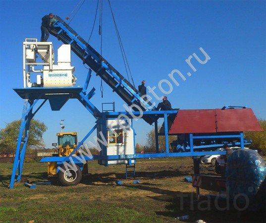 Мобильный бетонный завод YHZS 35