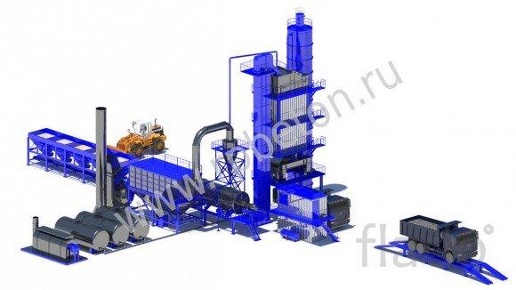 Стационарный асфальтобетонный завод LBG600