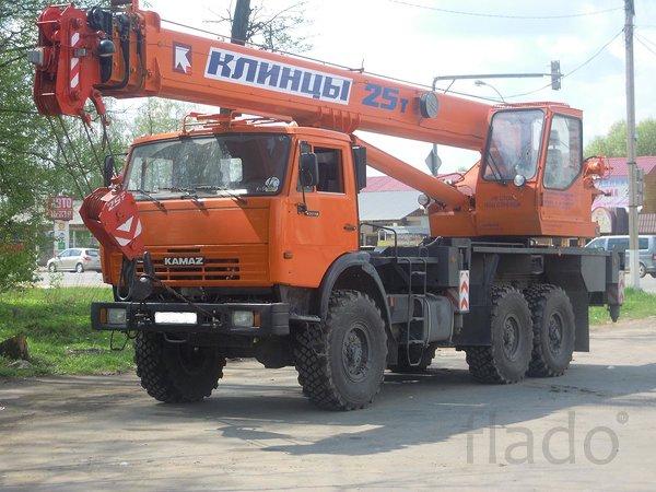 Аренда автокрана вездеход 25 тонн в г. Приморске, заказать, услуги