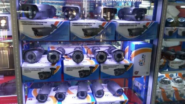 Уличный комплект видеонаблюдения на 4 камеры беспроводной