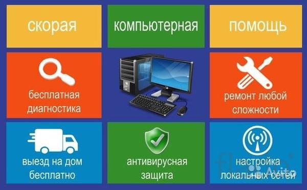 Ремонт компьютеров,ремонт ноутбуков