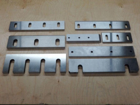 Изготовление ножей для дробилок, шредеров,пресс-ножниц,гильотин.