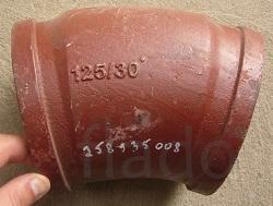 Угол бетоновода 30, 45, 90 градусов