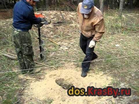 Бурение ям под столбы для забора бензобуром,стоимость бурения от 150 р