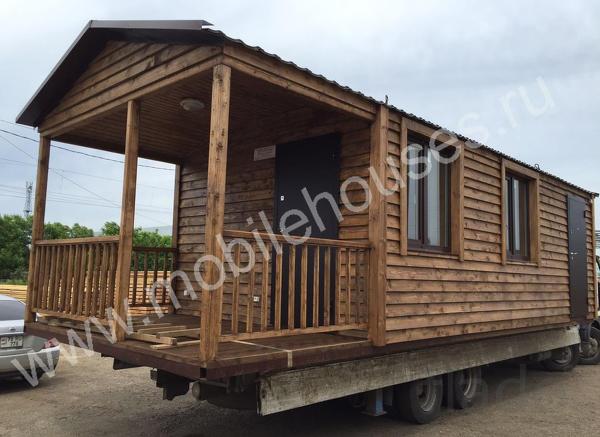 Деревянный мобильный домик на заказ