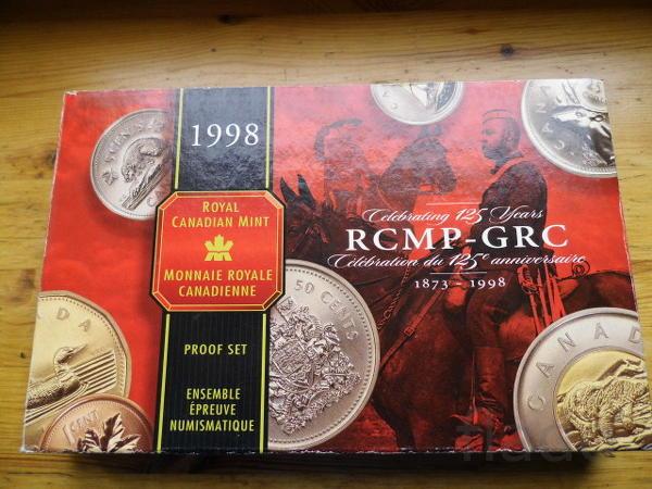 Набор монет 1998 года. Пруф, серебро, позолота