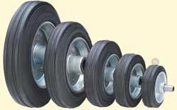 Колесо поворотное (резина) с подшипником для гидравлических тележек