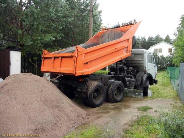 Доставка песка, щебня, грунта