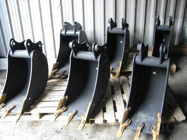 Ковш на экскаватор-погрузчик шириной 30, 40, 60, 75, 90 см