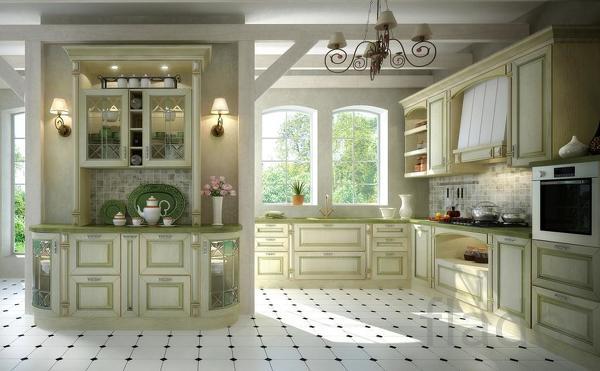 Кухни деревянные, массив дуба