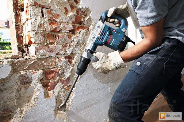 демонтаж  стен из кирпича