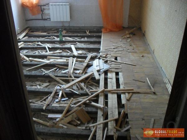 демонтаж  стен, полов