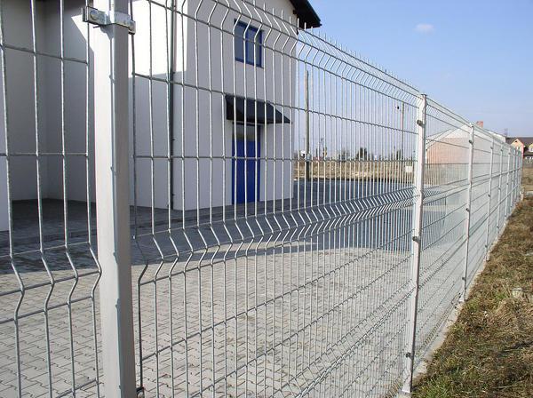 3Д забор, 3Д сварная панель 2430x2500x4мм Цинк