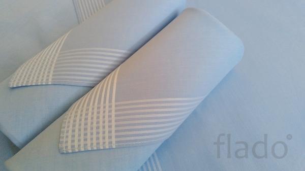 красивые наборы носовых платков голубого оттенка
