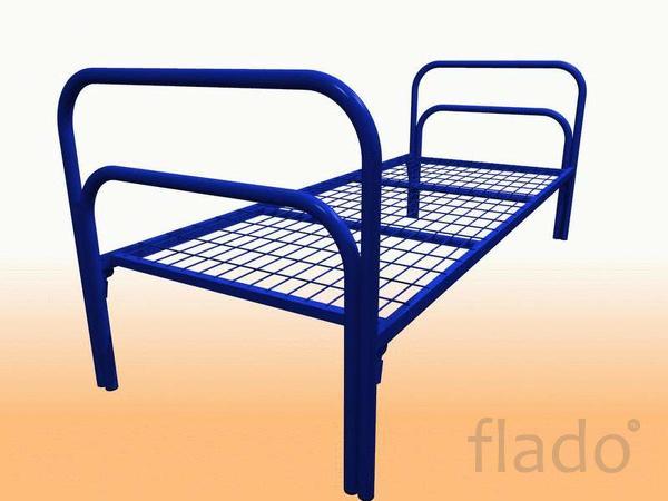 Кровати металлические для времянок, кровати для общежитий, оптом