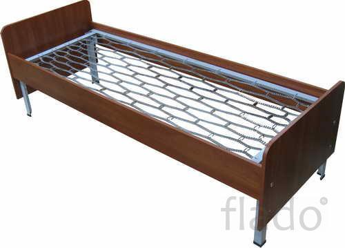 Двухъярусные железные кровати, для казарм, кровати с ДСП спинками
