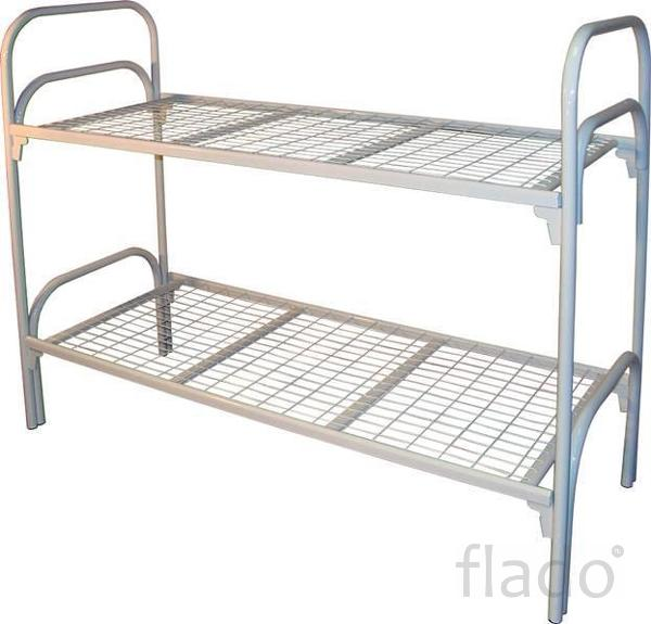 Кровати металлические для интернатов, кровати для студентов, оптом
