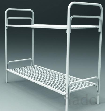 Двухъярусные металлические кровати для бытовок, для общежитий оптом