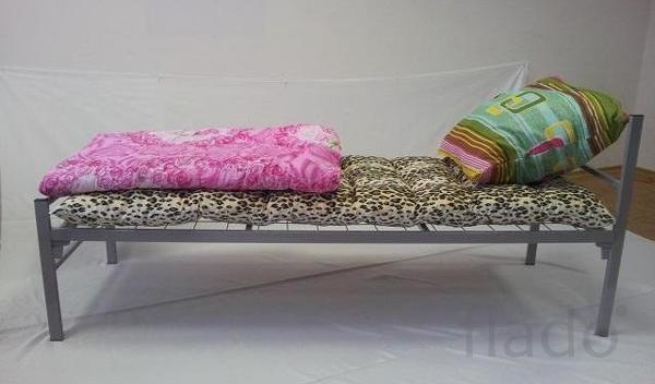 Кровати металлические с ДСП спинками, кровати одноярусные оптом