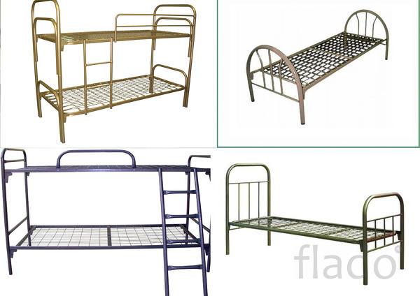 Кровати с царгами и спинками из лдсп для детских пионерских лагерей,па