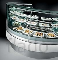 Витрина холодильная вентилируемая IFI MIX угловая 90 VAD UC без обшивк