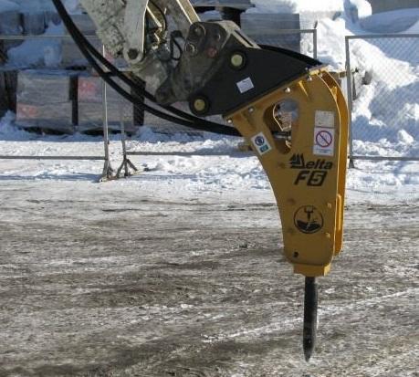 Молот Delta F5 на экскаваторы от 5 до 11 тонн