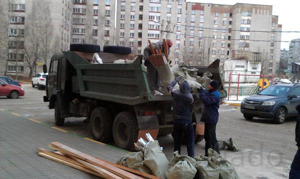 Вывоз строительного мусора. Газель. Самосвал. Бункеровоз